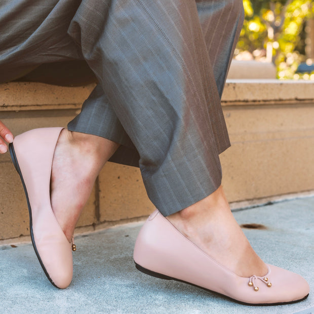 The Ballet Flat Nude Leather - Kira Bani