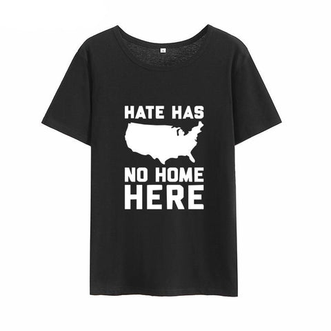 """NO HATE"" T-SHIRT (4 COLOURS) UNISEX"