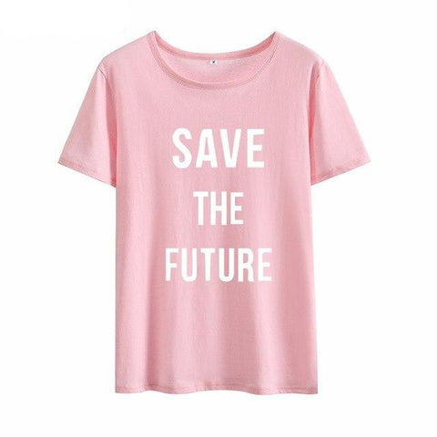"""SAVE THE FUTURE"" T-SHIRT (4 COLOURS) UNISEX"