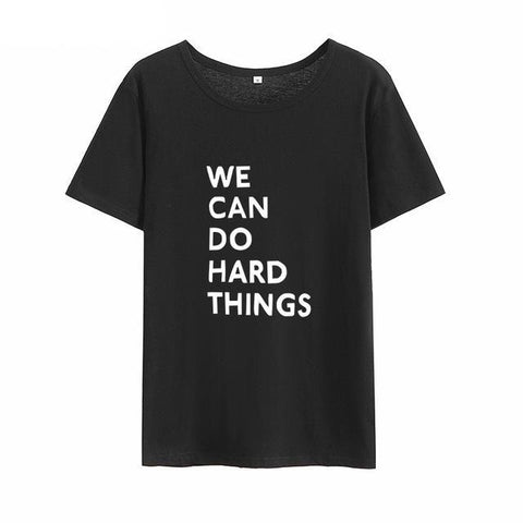 """WE CAN DO"" T-SHIRT (4 COLOURS) UNISEX"