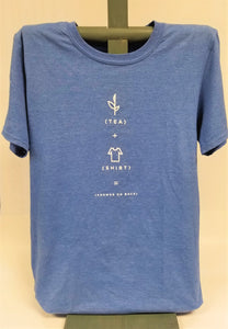 Heather Royal Tea Shirt Front