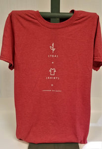 Heather Red Tea Shirt Front