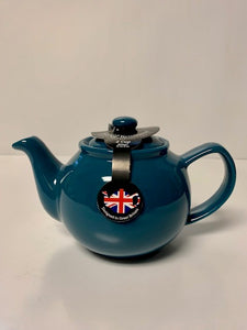 2 Cup or 6 Cup Teal Teapots