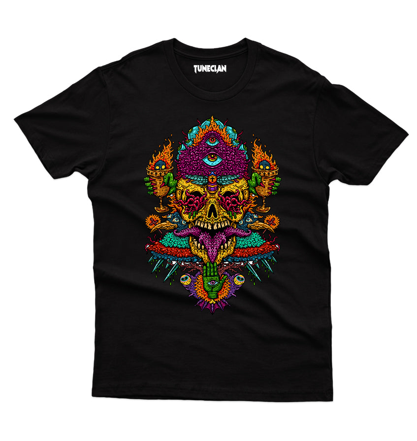 Psychedelic Skull T-Shirt - TuneClan
