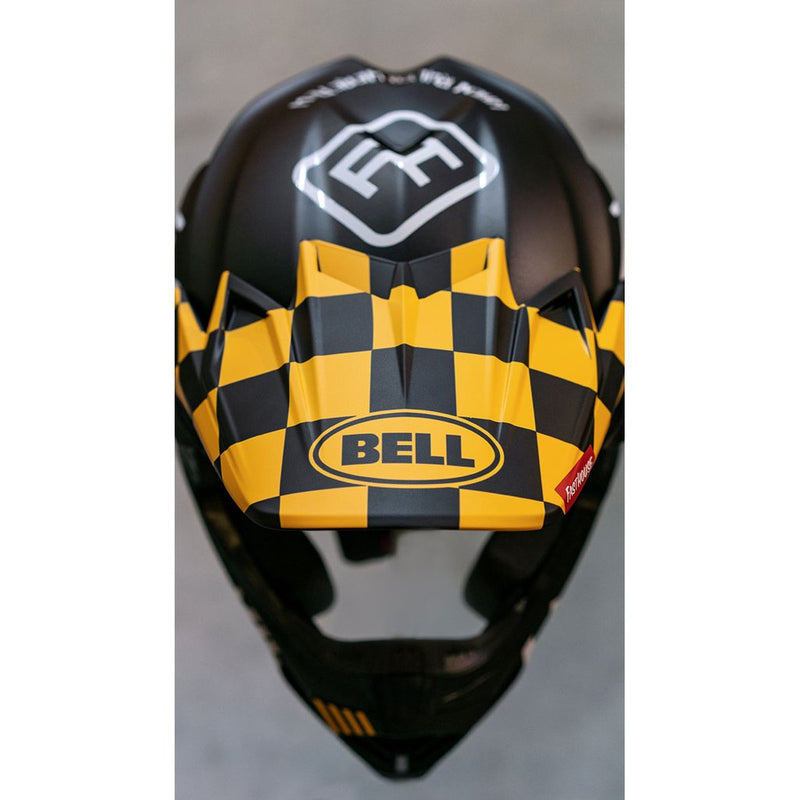 Fasthouse/Bell Replacement Visor & Mouthpiece Checkers Black/Yellow