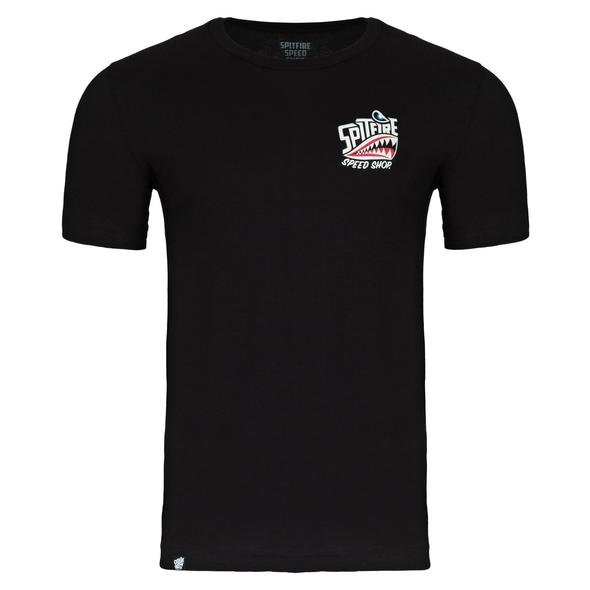 Spitfire Speed Shop Adult Tee Black/Front Colour Logo