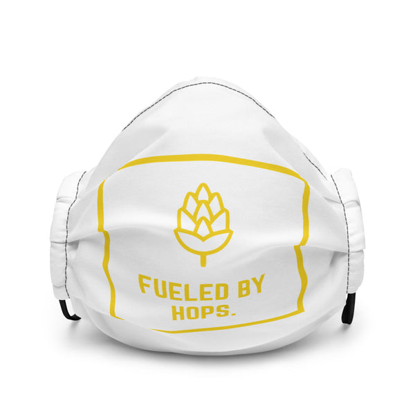 Fueled By Hops Logo Face Masks