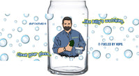 The Billy Mays Glass (Fueled By Hops x Hop Culture Magazine x Billy Mays III collab) - Charity Glass