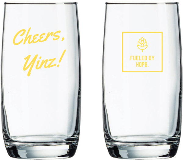 The Cheers, Yinz! Glass - 17oz Arc Nordic Glass