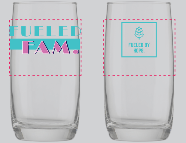The FueledFam Summer 2020 Glass - 17oz Arc Nordic Glass