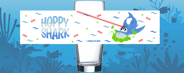 The Hoppy Shark Glass