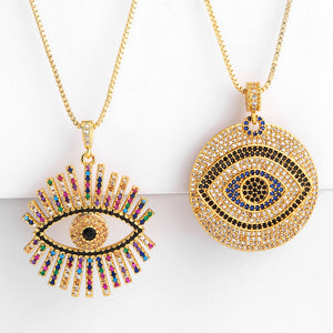 Rainbow Turkish Evil Eye Necklace