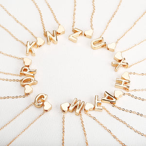 Tiny Gold Letter Necklace - Jewelry King Shop