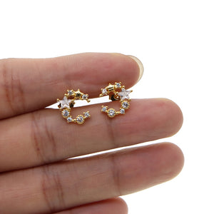 Crystal Moon Earrings - FREE SHIPPING