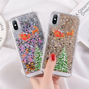 Christmas 3D Liquid iPhone Case - Jewelry King Shop