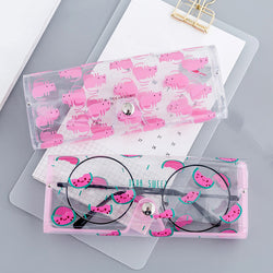 Cartoon Cute Travel Women Transparent PVC Eye Glasses Box Bag Case Protection Carry Box Eyewear Accessoires - ShopOnlineNG01