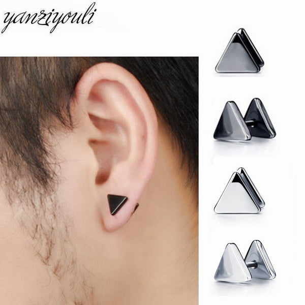 2019 Fashion Classic Triangle Earrings Stainless Steel Earrings - ShopOnlineNG01