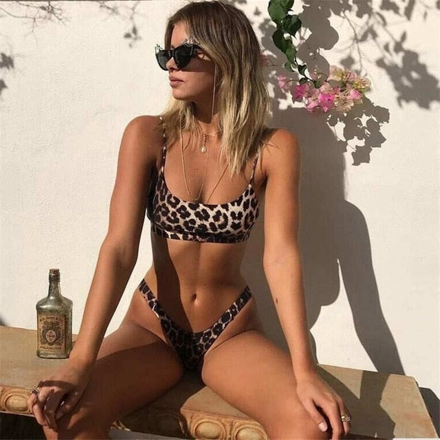Sexy Leopard Print Bikinis Women Bikini Set Swimsuit High Cut Bathing Suit Swimwear Female Summer Brazilian Beachwear Biquini - ShopOnlineNG01