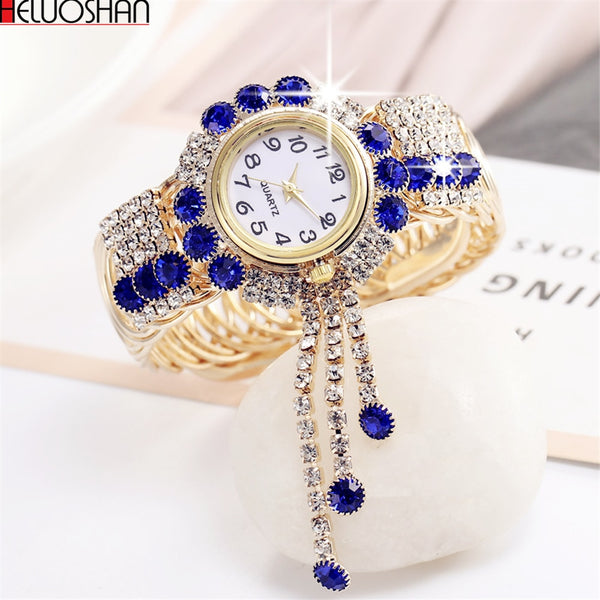 2019 Top Brand Luxury Rhinestone Bracelet Watch Women Watches Ladies Wristwatch Relogio Feminino Reloj Mujer Montre Femme Clock - ShopOnlineNG01