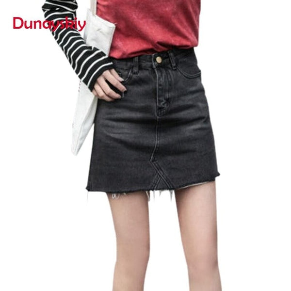 Casual High Waist Pencil Denim Skirts - ShopOnlineNG01