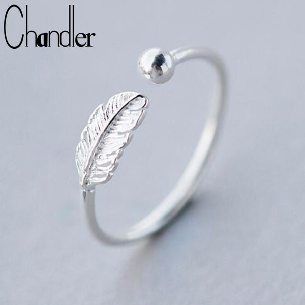 Chandler silver  Feather Bead Rings - ShopOnlineNG01