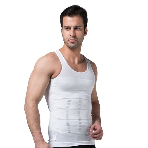2019 Men Slimming Body Shaper Tummy Shaper Vest Slimming Underwear Corset Waist Waist Cincher Men Bodysuit Dropship - ShopOnlineNG01