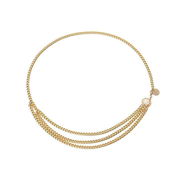 DreamBell Women Waist Chain Silver Gold Color - ShopOnlineNG01