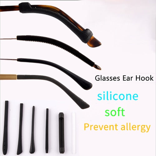 1Pairs/lot Anti Slip Silicone Glasses Ear Hooks For Kids And Adults Round Grips Eyeglasses Sports Temple Tips Soft Ear Hook - ShopOnlineNG01