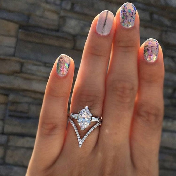 New Trendy Crystal  Engagement Claws Design Hot Sale Rings For Women - ShopOnlineNG01