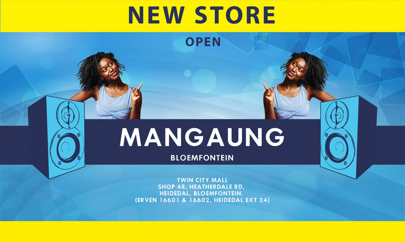New electronics and music instrument store opening in Bloemfontein, Free State.
