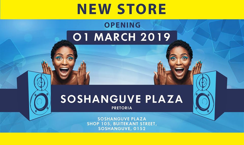New electronics and music instrument store opening in Pretoria, Gauteng.