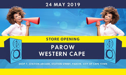 New electronics and music instrument store opening in Parow, Western Cape.