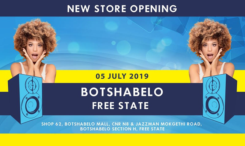 New electronics and music instrument store opening in Botshabelo Mall, Fre State.