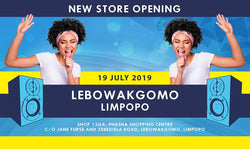 New electronics and music instrument store opening in Lebowakgomo, Limpopo.