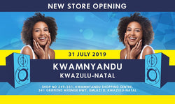 New electronics and music instrument store opening in Umlazi, KwaZulu-Natal.