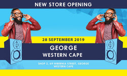 New electronics and music instrument store opening in George, Western Cape.