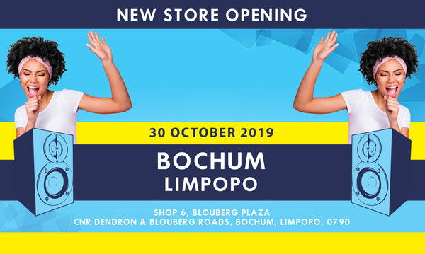 New electronics and music instrument store opening in Bochum, Limpopo.