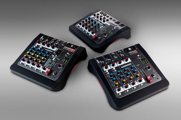 ALLEN & HEATH LAUNCHES NEW ZED MINI MIXERS