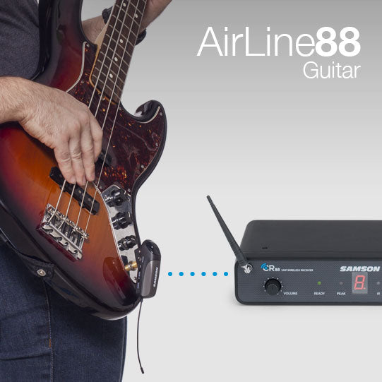NAMM 2016 PRESS RELEASE: Samson's AirLine 88 Guitar UHF Wireless System, True Wireless Freedom For Guitars/Stringed Instruments