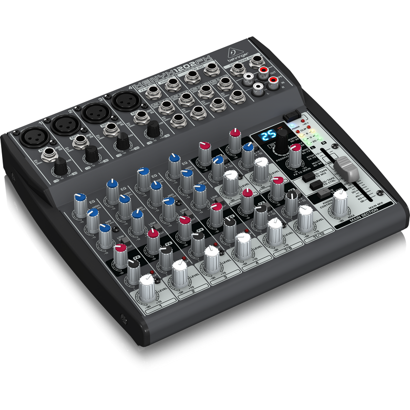 Behringer XENYX 1202FX 12Input 2-Bus Mixer With XENYX Mic Preamps, British EQs and Multi-FX Proces,fastrak-sa.