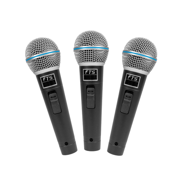 FTS-MIC3P Plastic Moulded Dynamic Microphones Three in Pack