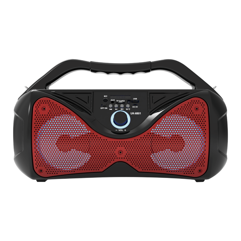 "FTS-182 Double 4"" Portable Boom Box [Red] (4397748224067)"