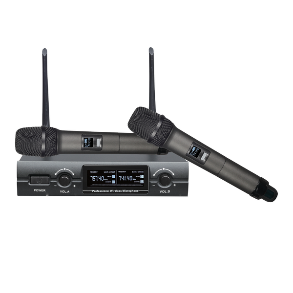 FTS-KU300 Dual Handle Vhf Wireless Mic