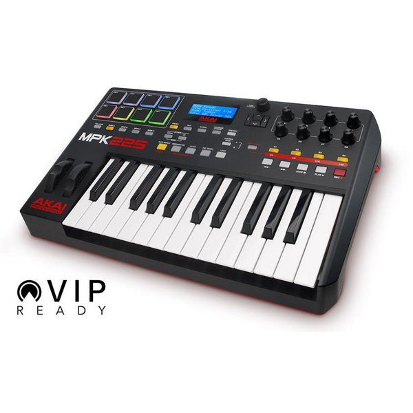 Akai-MPK 225 Advanced 25-Key USB/MIDI Controller Keyboard w/RGB Drum Pads (4489921134659)
