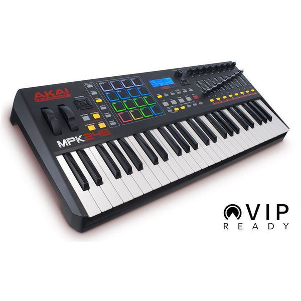 Akai-MPK 249 Advanced 49-Key USB/MIDI Controller Keyboard w/RGB Drum Pads,fastrak-sa.