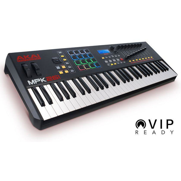 Akai-MPK 261 Advanced 61-Key USB/MIDI Controller Keyboard w/RGB Drum Pads,fastrak-sa.