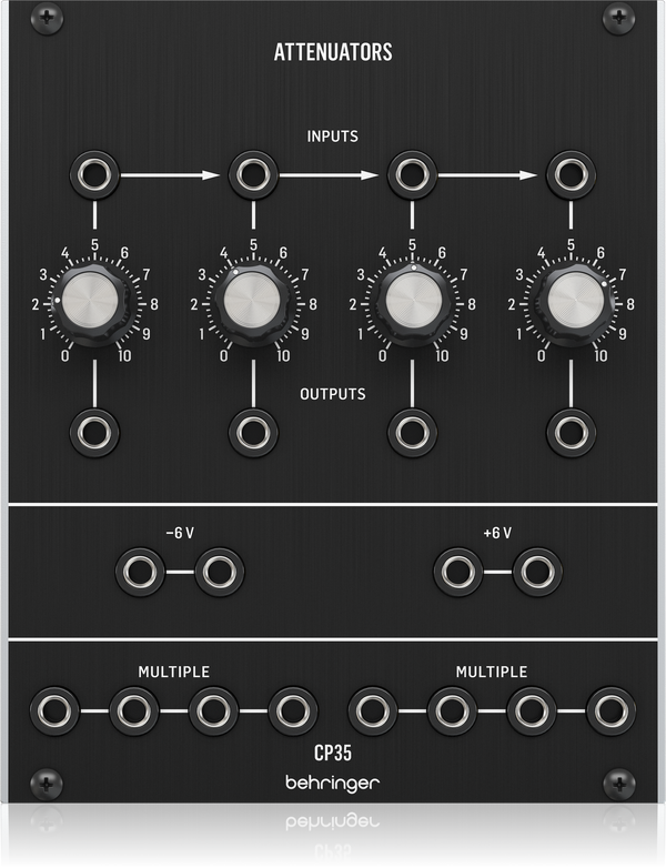 Behringer CP35 ATTENUATORS Analog Attenuator and Multiples Module for Eurorack,fastrak-sa.