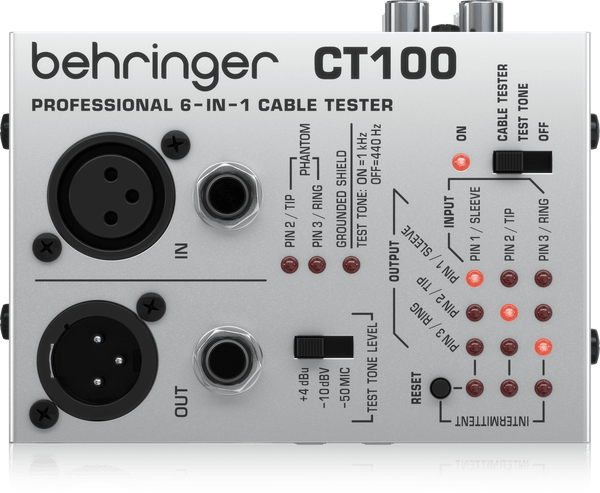 Behringer CT100 Professional 6-in-1 Cable Tester,fastrak-sa.