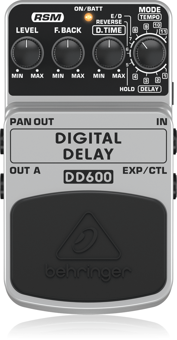 Behringer DD600 Digital Stereo Delay/Echo Effects Pedal,fastrak-sa.