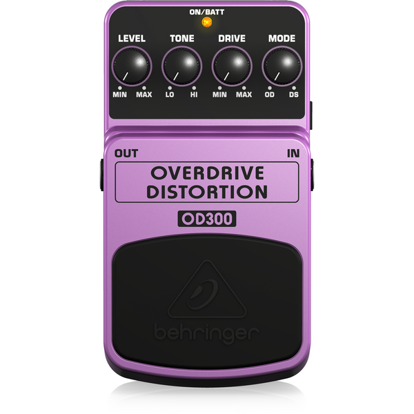 Behringer OD300 2-Mode Overdrive/Distortion Effects Pedal,fastrak-sa.